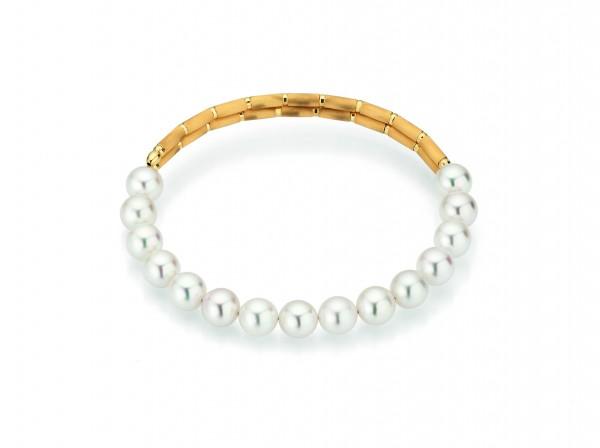 Armband Akoya in Gold mit Magnet SILK MAGNET