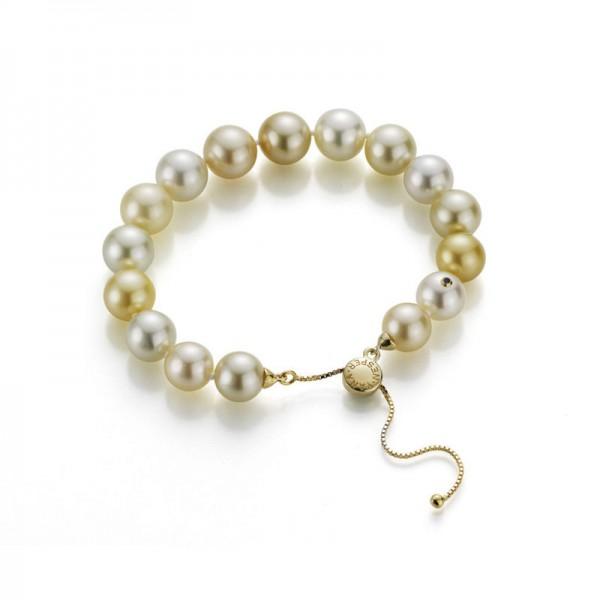 """Südsee Perlen Armband SD49 mit """"Slide"""" Verschluss aus Gold"""