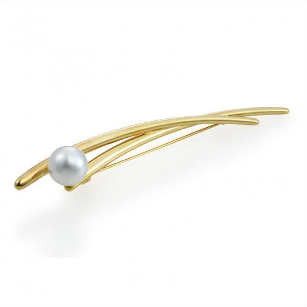 Brosche SD33 mit Südsee Perle aus Gold