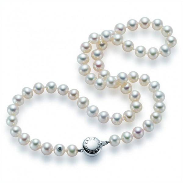 Perlenkette aus Süßwasserperlen FC2 mit Gold