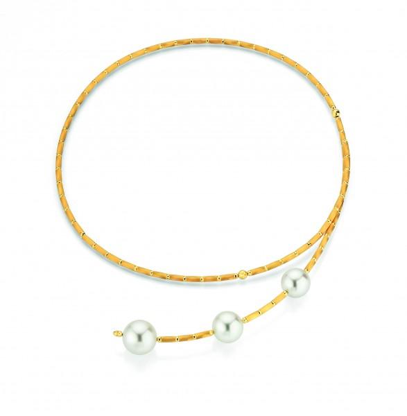 Perlenkette in Gold mit Magnet SILK MAGNET