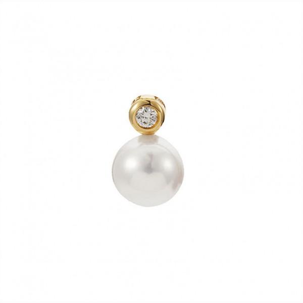 Perlenanhänger AP12 aus Gold mit Akoya Perle und Diamant