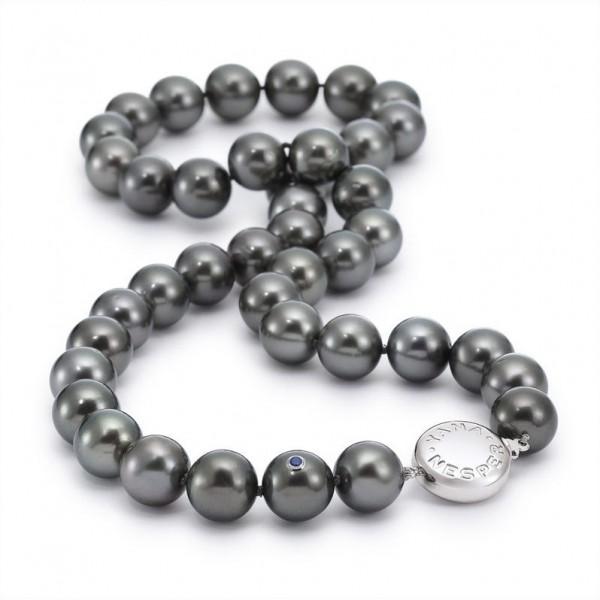 Perlenkette UN3 aus Tahiti Perlen mit Schließe aus Gold