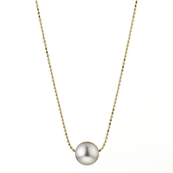 Akoya Perlenkette AP78 Bubbles. Gelbgold mit Slide-Verschluss