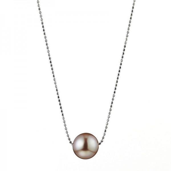 Süßwasser Perlenkette IS38 Bubbles. weißgold mit Slide-Verschluss