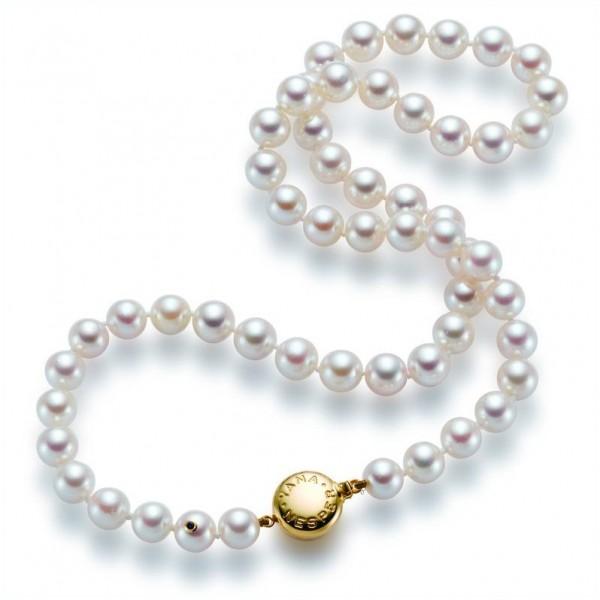 Akoya Perlenkette AP1 mit Schließe aus Gold