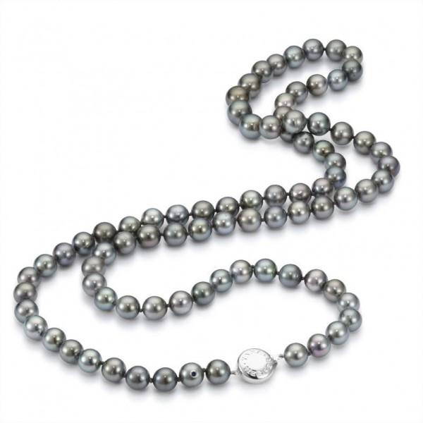 Perlenkette UN29 aus Tahitiperlen mit Schließe aus Gold