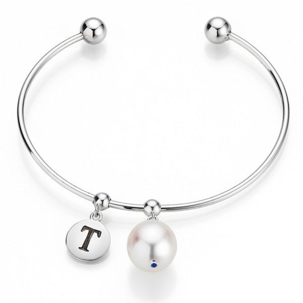 Süßwasser Perlenarmreif MAKE IT YOURS FC107 in Silber