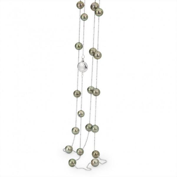 Tahiti Perlenkette UN2 mit GoldSchließe